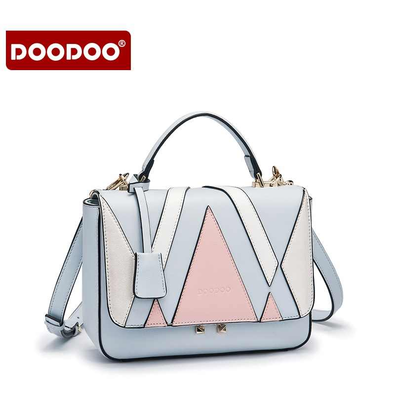 9c7157bc51 ... DOODOO Women Bag PU Leather Famous Brand Vintage Designer Bags Famous  Brand Women Bags Women s Messenger ...