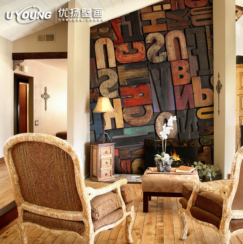 You Yang Large Mural Wallpaper Ktv Bar Living Room Bedroom Abstract Personalized Street Art