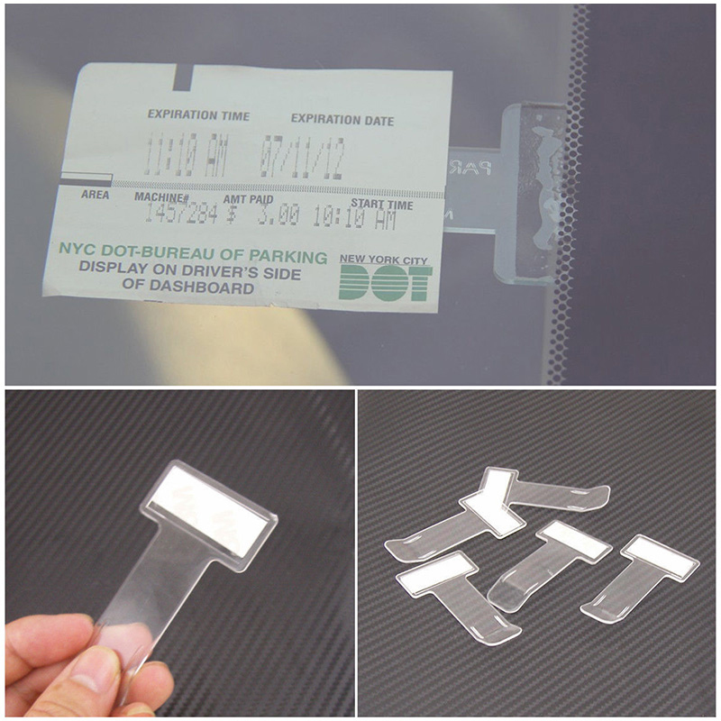 Image 4 - Auto Ticket Folder Mini T shape Transparent Folder Holder Car Mount Style Accessories Stuff  Interior Stickers Front Windshield-in Car Stickers from Automobiles & Motorcycles