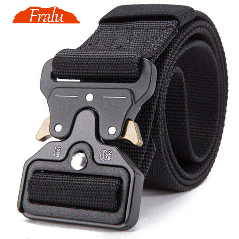 FRALU 2019 Hot Mens Tactical Belt Military Nylon Belt Outdoor multifunctional Training Belt High Quality Strap ceintures(China)