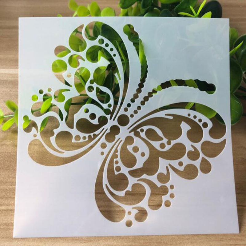1pc Butterfly Stencils Bullet Journal DIY Templates Painting Emboss Art Craft Scrapbooking Cards Album Stencils Drawing Reusable