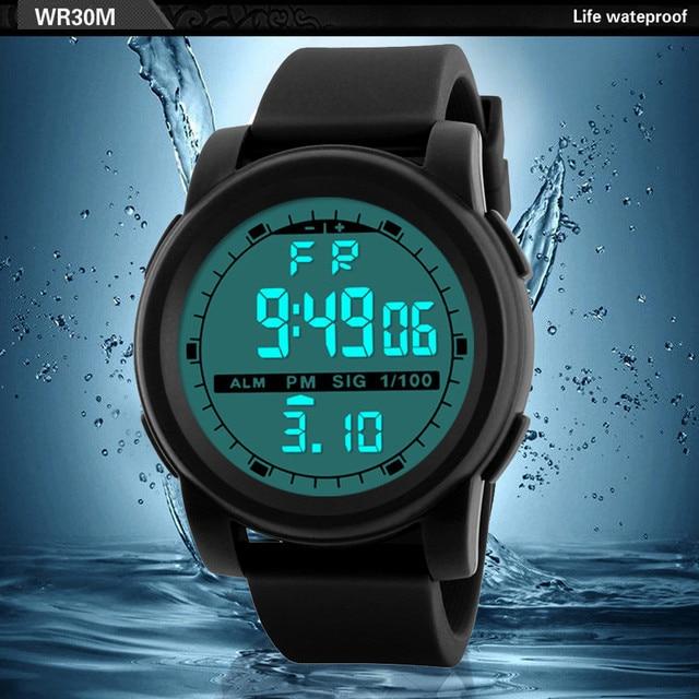 New Men Sports Watches Waterproof Outdoor Fun Multifunction Digital Watch Swimming Running LED Wristwatch Montre Homme 3