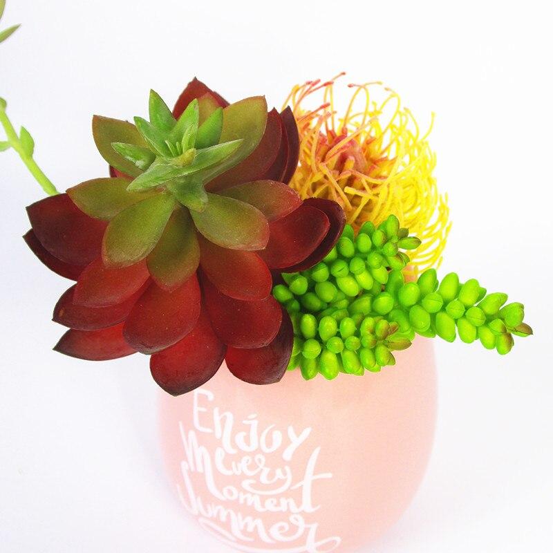 Het Beste Eeuw Woestijn Plant Agave Kunstmatige Vetplant Plastic Bloem Tafel Decoratie Groene Plant Muur Achtergrond