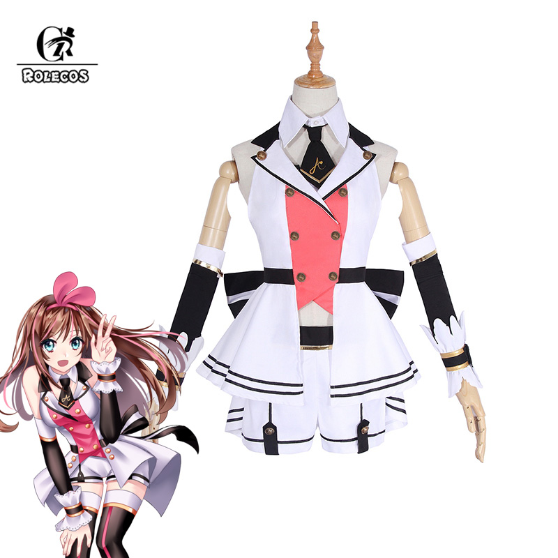 ROLECOS Youtuber Kizuna AI Cosplay Costume AI Channel New Outfit Costume For Women Cosplay A.I. Popular Virtual Youtuber