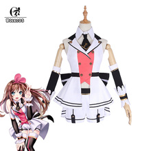 ROLECOS Youtuber Kizuna AI Cosplay Costume AI Channel New Ou