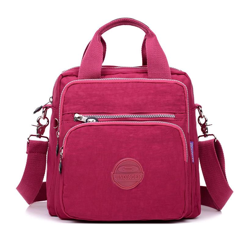 Women Messenger Bag Ladies Crossbody Bags Handbag Waterproof Nylon Zipper Pocket Solid Shoulder Packet Lady Tote Package