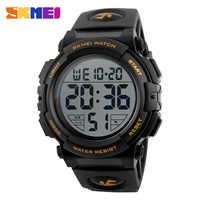 Relojes deportivos SKMEI de moda para hombres, Reloj Digital impermeable de 50m para exteriores, Reloj de pulsera de natación para hombres Reloj de pulsera Reloj para Hombre Montre Homme