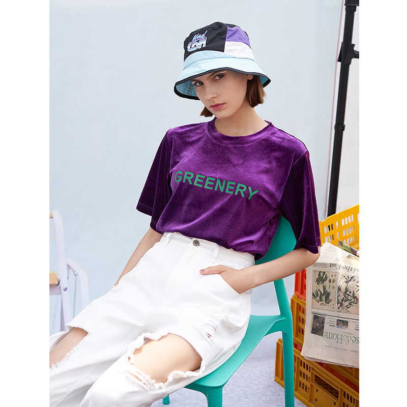 Toyouth 2019 Women T Shirt Spring Fashion Letter Printed Bling Bling Short Sleeve New Arrival Female O Neck Shirts in T Shirts from Women 39 s Clothing