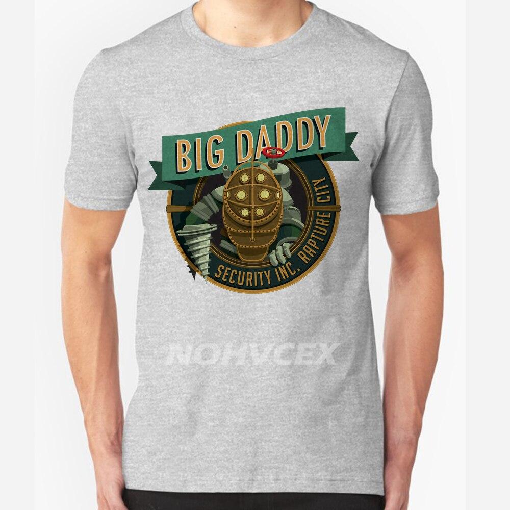 Custom Tee Shirts Near Me Big Daddy Bioshock Rapture Elizabeth Video