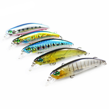 1PCS Floating Minnow Fishing Lure Laser Hard Artificial Bait 3D Eyes 6.5cm 4g Fishing Wobblers Crankbait Minnows