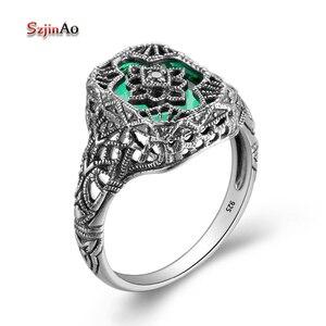 Szjinao Women's 925 Sterling Silver Ring