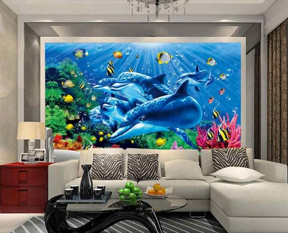 3D морской мир настенная бумага Фреска контактная бумага настенные фрески наклейки домашние цветочные обои рулоны для гостиной 3d обои