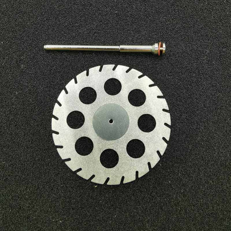 Dental Lab Diamond Double Sided Cutting Disc For  Cutting Plaster Disc Wheel Dental Lab Tool 45mm*0.30mm With Mandrels