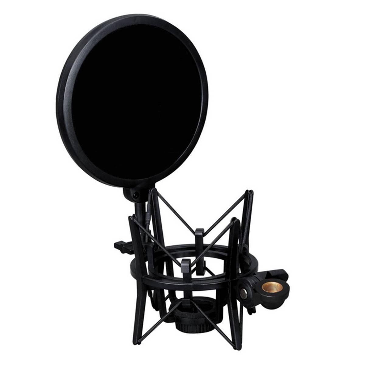 Professionnel support de microphone avec microphone intégré Mic pop bouclier pop filtre