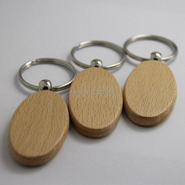 Grosshandel 10 Stucke Blank Oval Holz Schlusselanhanger Diy Forderung
