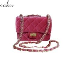 Caker Brand 2019 Women Velvet Diamond Lattice Handbags Fashion Crossbody Chain Bags Drop Shipping