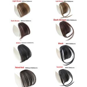 MERISI HAIR 4Color Clip In Hair Bangs Hairpiece Synthetic Fake Bangs Hair Piece Clip In Hair Extensions(China)