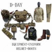 WW2 US AIRBORNE M1 EQUIPMENT CONBINATION D-DAY NORMANDY M36 ,M1911 M7 WITH 101 UNIFORM AND BOOTS