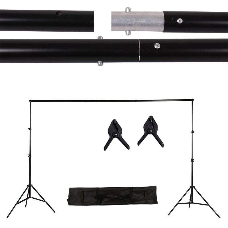 Réglable 2 m x 3 m/6.5ftx9.8ft support de fond Stand Pro arrière-plan de photo Barre Transversale Kit Studio