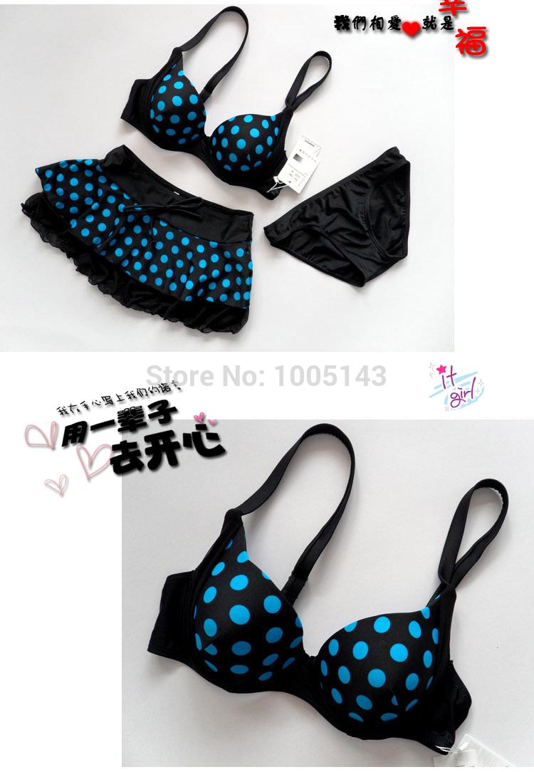 LEBESI 17 New Dot Skirt Bikini Three-piece Female Swimsuit Plus Size Underwire C D E Cup Bikinis Set Swimwear Fast Shipping 7