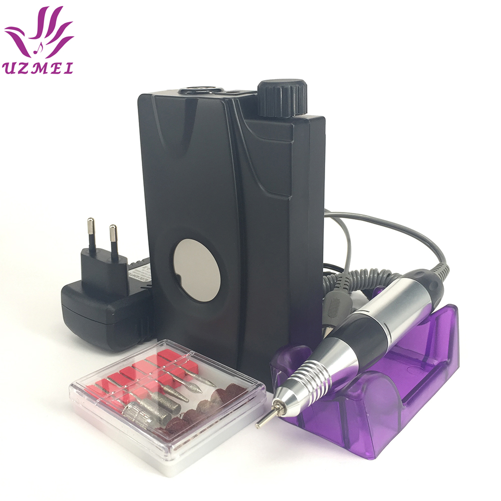 цена Portable Electric Nail Drill file Machine Manicure Pedicure Kit Set Rechargeable Nail Drill Nail Art Nail Tools