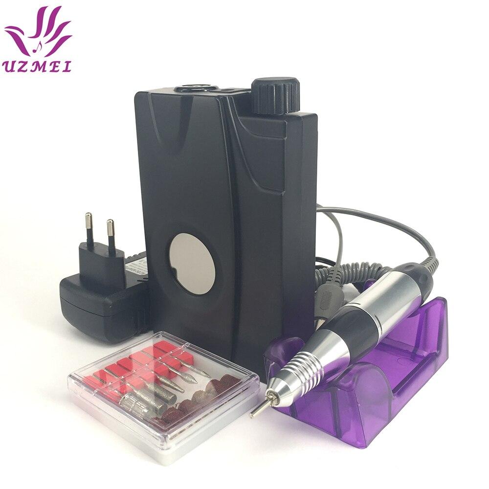 Portable Electric Nail Drill file Machine Manicure Pedicure Kit Set Rechargeable Nail Drill Nail Art Nail Tools