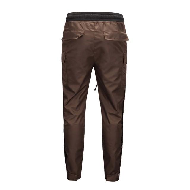 Men Side Snap Cargo Pants Hip Hop hi street Slim Fit draw string Track Pants