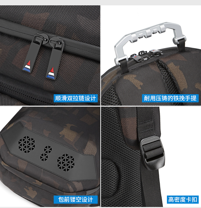 Geek Backpack USB Charging Bluetooth Music Bags camo 8