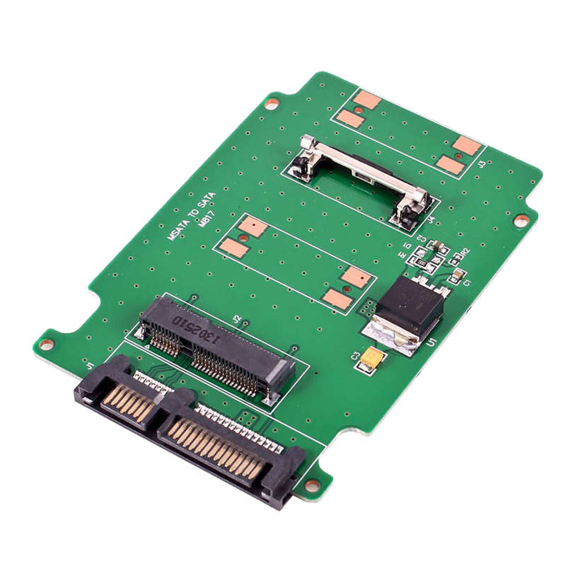 Mini Msata Pci-E Ssd 50Mm To 2.5 Inch Sata 7+15Pin Adapter Converter Card 5Cm