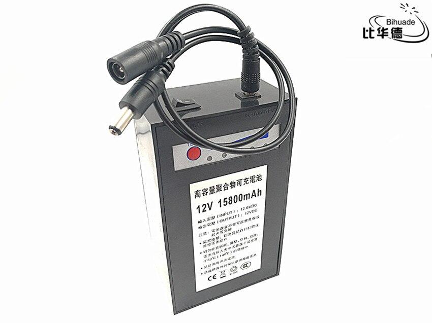 Batterie Rechargeable de polymère de batterie de cc de batterie au lithium de 12 V 15800 mah pour la batterie de rechange extérieure de lumière LED de moteur de moniteur