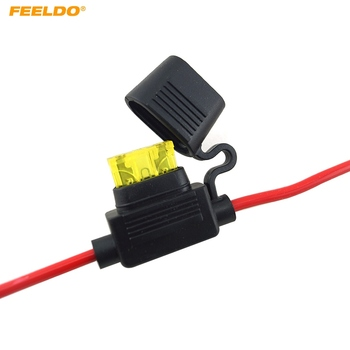 FEELDO 50Pcs Waterproof Car Auto 10/15/20/30A Amp In Line Blade Fuse Holder Fuses #FD-5458