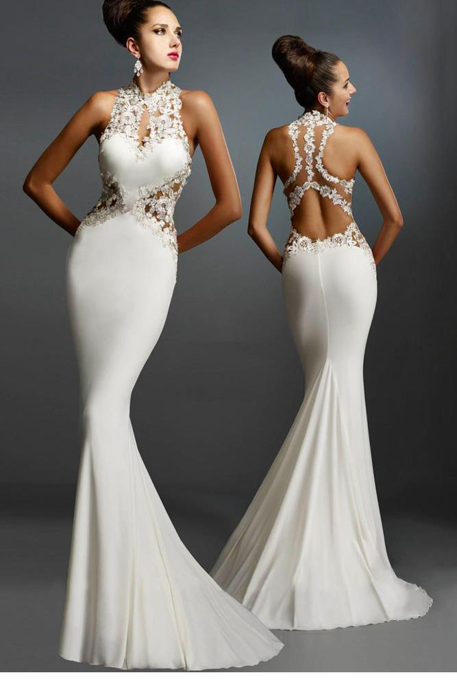 Popular Winter White Evening Gowns-Buy Cheap Winter White Evening ...