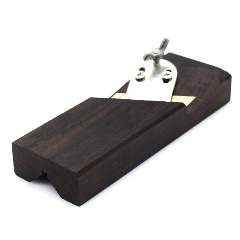 Wood Chamfer Plane 45 Degree Ebony Block Plane With Blades Hand Planer Tool For Carpenter PAK55