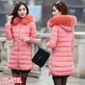 Mulheres Jaquetas E Casacos de Inverno 2016 de Espessura Quente Com Capuz Para Baixo de Algodão Acolchoado Jaqueta Parkas Para O Inverno das Mulheres do Sexo Feminino Manteau Femme