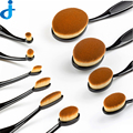 HOT 10 Unids/set Profesional Oval Forma del cepillo de Dientes Cepillos Multipurpose Pinceles de Maquillaje Fundación Cosmética Puff Powder Brush Kits