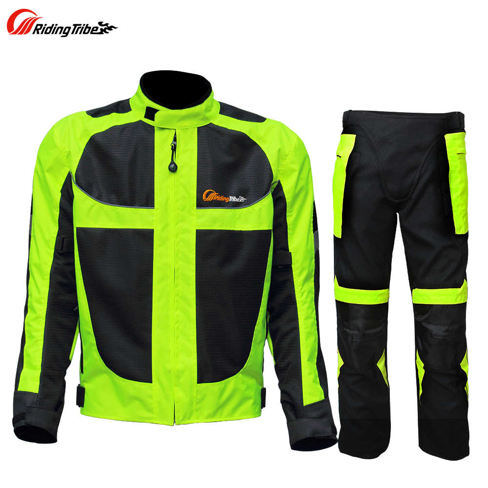 800edb75fce0 Riding Tribe Motorcycle Reflective Suit Winter Warm Safety High Visibility Jacket  Pants Protective Clothing Four Season