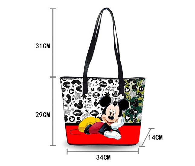 Image 5 - Disney Mickey mouse diaper Bag Shoulder Cartoon lady Tote Large Capacity bag Women waterproof bag fashion hand travel beach bagDiaper Bags   -