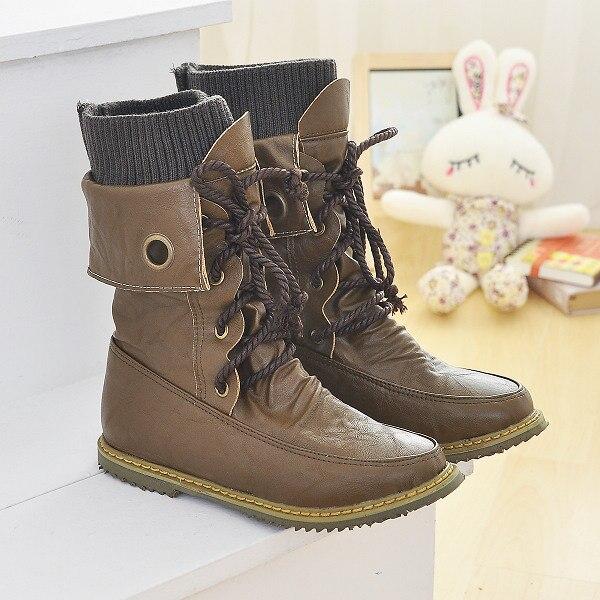 2016 Big size 34-52 Botas Mujer Boots Shoes Woman Fashion Motocicleta Mulheres Martin Boots Femininas Women 702 shoes woman fashion motocicleta mulheres martin outono inverno botas de couro boots femininas botas women boots canvas 9302