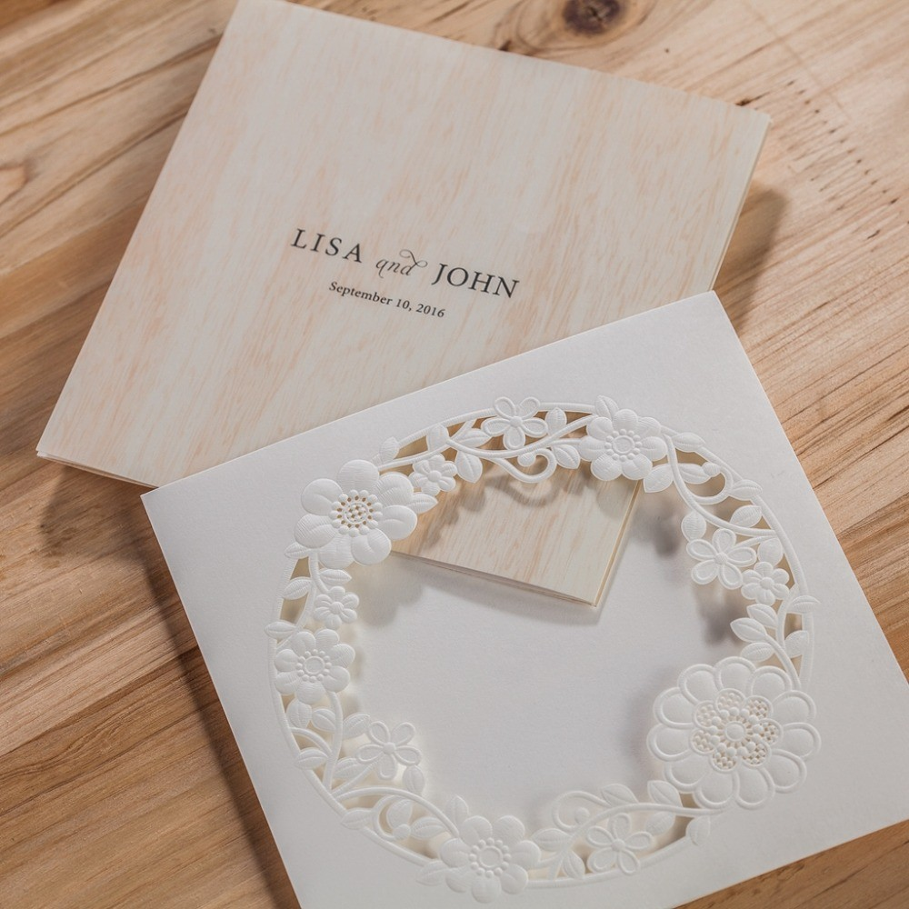 100 Pieces, Classic White Square Cute Small Flowers Wedding ...