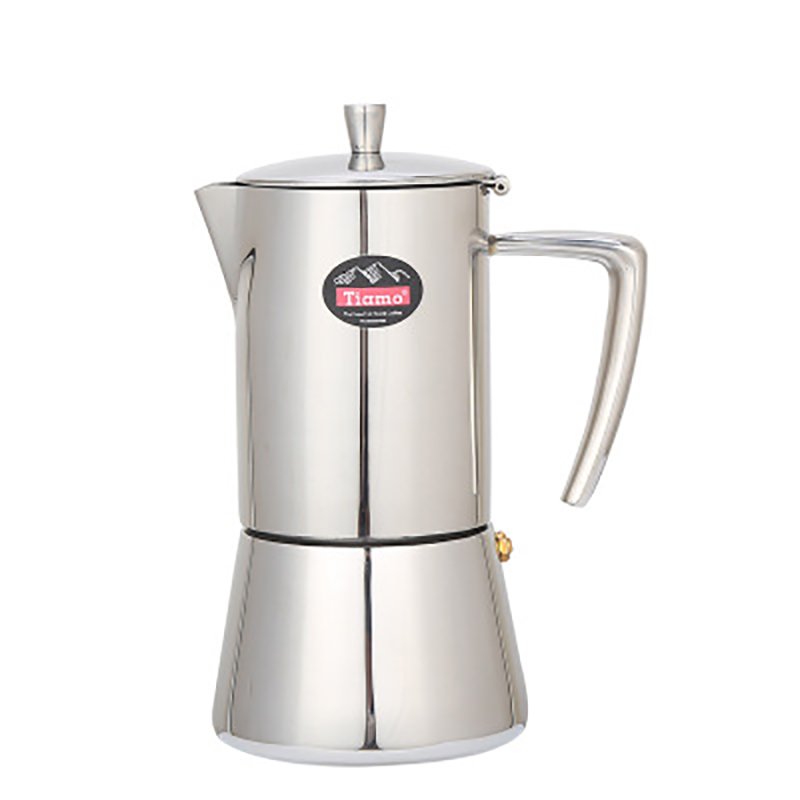 4cup/6cup Coffee Maker Stainless Steel Coffee Pot 304 Moka Pot Household Hand Punch Pot Filter Cup Coffee Set Filter Pot