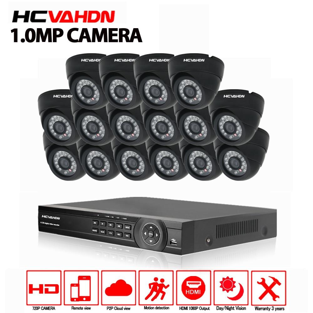 16ch система видеонаблюдения 720 P AHD камера 16 шт. система безопасности AHD DVR 1080 P HDMI CCTV DVR рекордер 1.0MP Камера видеонаблюдения комплект