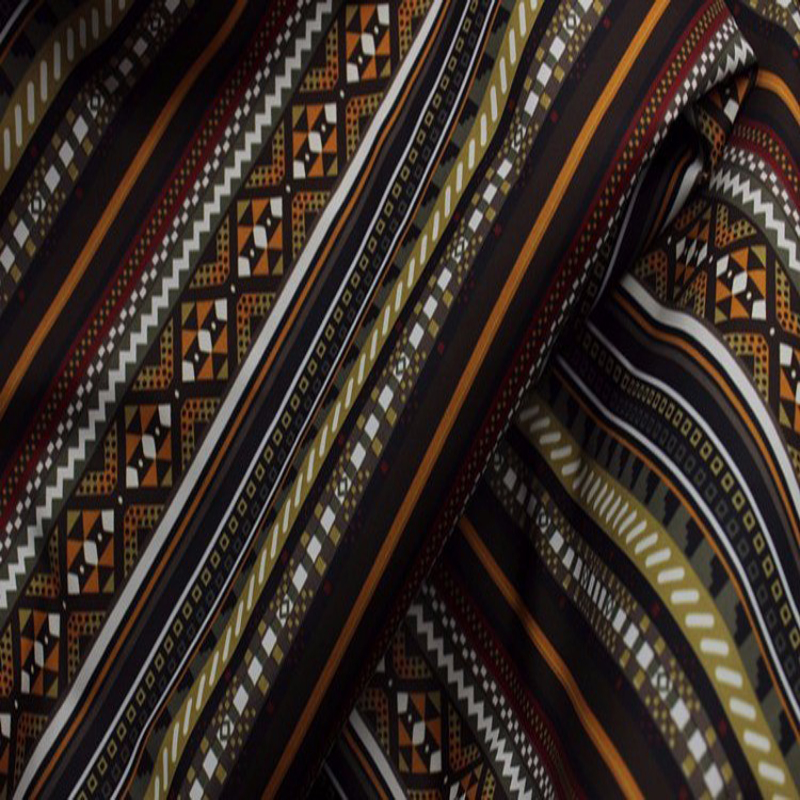 YY DIY Royal Brown Stripe Printed Polyester Lining Fabric 50x140cm fabric childrens prints fabric militaryprinted fabric material - AliExpress