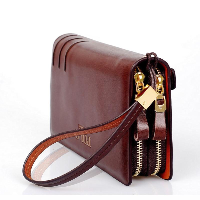 Fashion Men's Original Retro Leather Clutch Wallet Guaranteed Genuine Leather Vintage Man Clutch Bag High Capacity Carteira Zipe