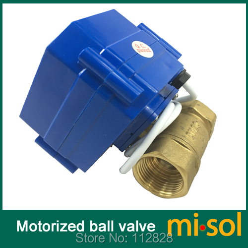 ФОТО 10PCS of 110V motorized ball valve,DN20 (NPT) brass,2 way, electrical valve, motorized valve