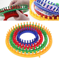 4 Sizes Classical Round Circle Hat Knitter Knitting Knit Loom Kit Wool Yarn Needle Knit Hobby