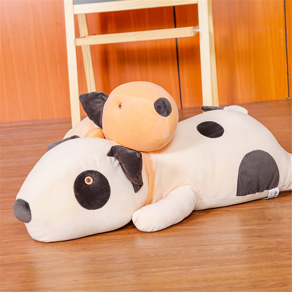 Fancytrader Plush Lying Sleeping Dog Pillow Toys Big Soft Stuffed Animals Toys Dog 90cm 35inch for Kids Gifts fancytrader soft anime radish plush toys giant stuffed emulational carrot sleeping pillow cushion for kids and adults gifts