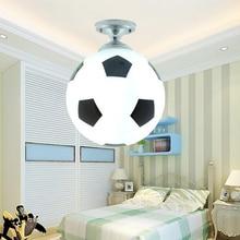 זכוכית Footaball כדורגל תקרת מנורת סומק הר תליון אור צל נברשת הולם LED הנורה/חיסכון באנרגיה מנורה/ליבון
