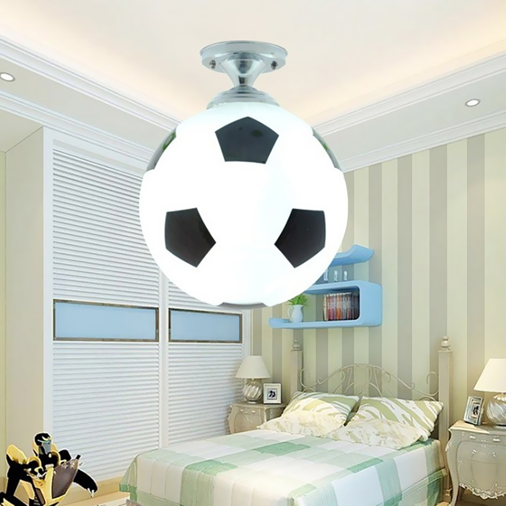 Glass Footaball Soccer Ceiling Lamp Flush Mount Pendant Light Shade Chandelier Fitting LED Bulb/Energy Saving Lamp/Incandescent