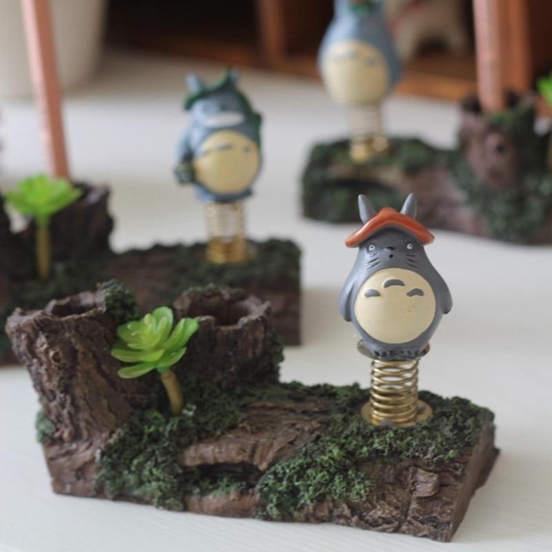 My Neighbor Totoro Pencil Holder Anime Miyazaki Hayao Totoro Colophony Crafts Tonari No Totoro Home Decorations L397