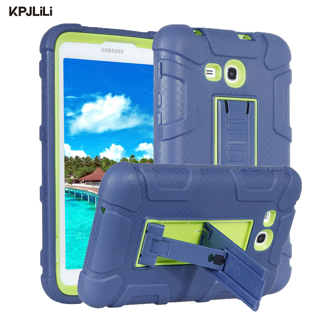 buy popular 6095d e5638 US $16.65 |Armor Kickstand Case for Samsung Galaxy Tab 3 Lite/Tab E Lite  7.0 T110 T111 T113 T116 Kids Safe Silicone Hard Protective Cover-in Tablets  & ...
